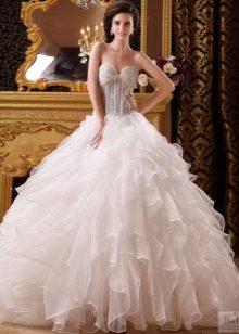 свадебное платье из органзы на обручах