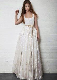 платье из органзы в пол