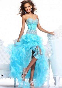 яркое платье из органзы