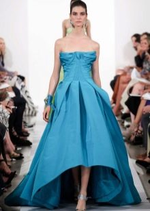 платье из органзы цвета аквамарин