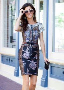 платье-футляр  из парчи