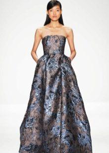 платье в пол из парчи