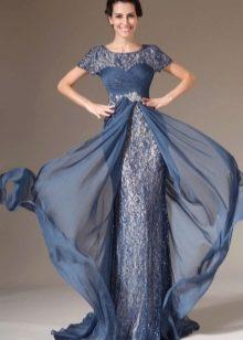 платье из парчи с двумя юбками