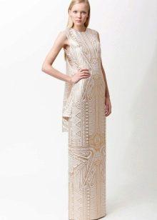 платье из белоц парчи в пол
