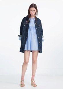 поплиновое платье-комбенизон