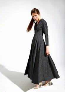 темное платье из поплина