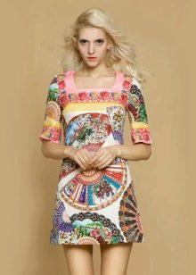 платье-футляр из поплина