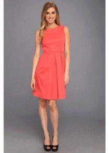 Оранжевое платье из поплина