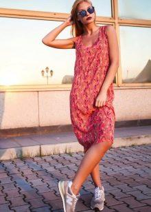 молодежное платье из поплина