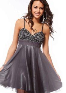 сатиновое платье на выпусконой