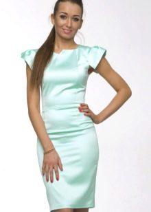 облегающее платье из сатина