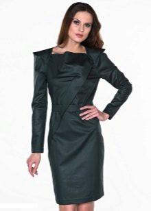 оригинальное платье-футляр с длиннным рукавом