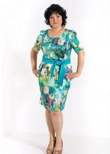 сатиновое платье большого размера