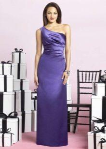 фиолетовое длинное платье