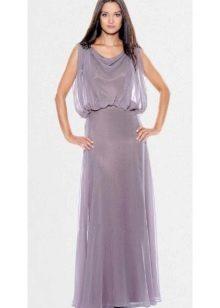 струящееся длинное сатиновое платье