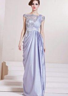 сатиново-кружевное вечернее  платье