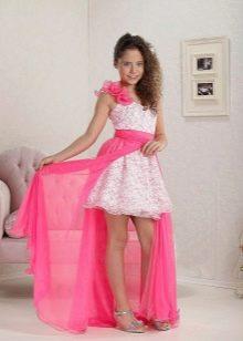 платье со съесным шлейом на выпускной 4 класс