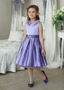 Короткое пышное платье на выпускной 4 класс