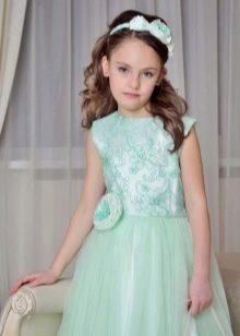 Мятное платье на выпускной 4 класс