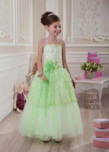 Салатневое платье на выпускной 4 класс