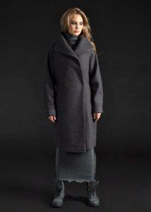 Пальто к длинному зимнему платью