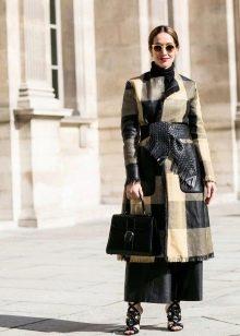 Пальто к длинному платью