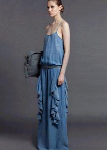 Сумка к  джинсовому платью-сарафане