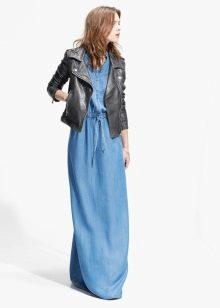Куртка к  джинсовому длинному платью