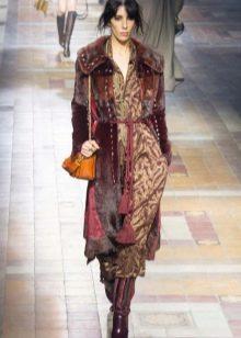 Пальто к платью миди в стиле бохо