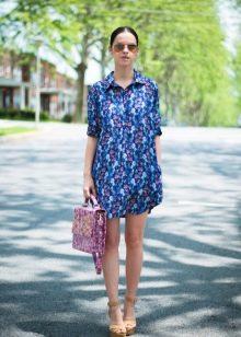 Сумка к короткому платью-рубашке на каждый день