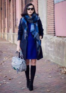 Пальто к синему платью