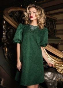 Колье к зеленому платью