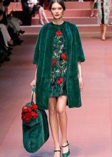 Пальто к  зеленому платью