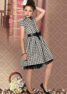 Школьное клетчатое платье для девочек