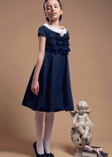Школьное платье для девочек А-силуэта
