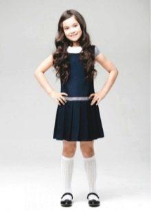 Школьное платье для девочек прямое