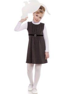 Школьное платье для девочек серое
