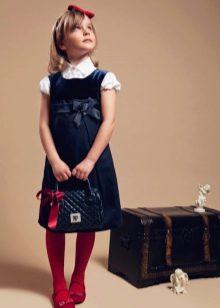 Школьное платье для девочек с завышенной талией