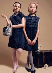 Школьные платья для девочек синие