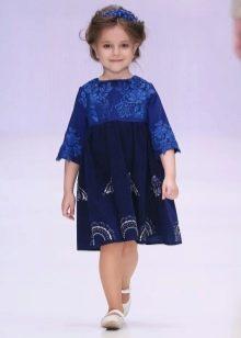 Трикотажное  нарядное платье для девочки