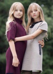 Платья для девочек из трикотажа