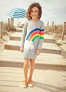 Трикотажное платье для девочки на каждый день