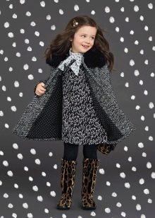 Трикотажное твидовое платье для девочки