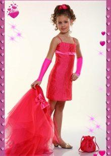 Выпускное платье-трансформер в детский сад красное