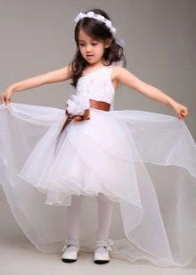 Выпускное белое платье-трансформер в детский сад