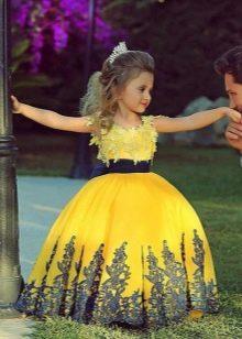 Выпускное желтое платье в детский сад