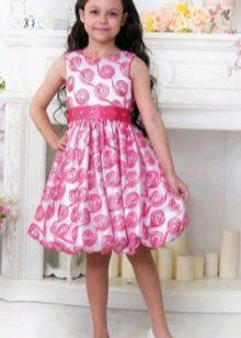 Выпускное платье в детский сад с юбкой тюльпан цветное