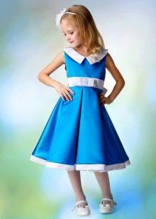 Выпускное платье в детский сад синее