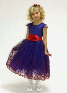 Выпускное платье в детский сад темно-синее