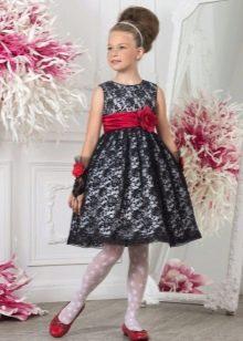 Черное кружевное платье выпускное в детский сад